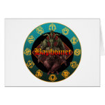 baphomet and horoscope cards