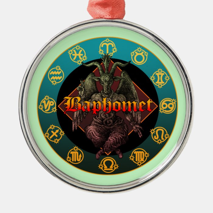 baphomet and horoscope metal ornament