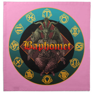 baphomet and horoscope napkins
