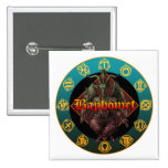 baphomet and horoscope pinback buttons