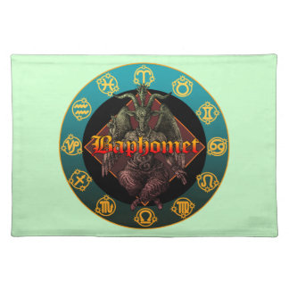 baphomet and horoscope placemat