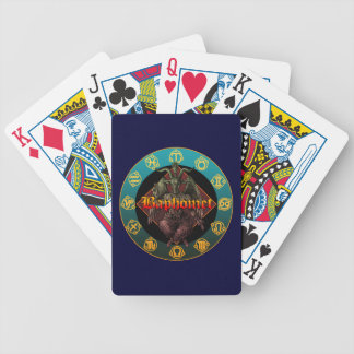 baphomet and horoscope bicycle poker deck