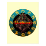 baphomet and horoscope post cards
