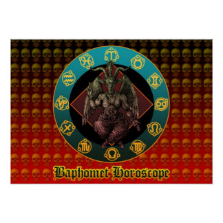 Baphomet and horoscope poster
