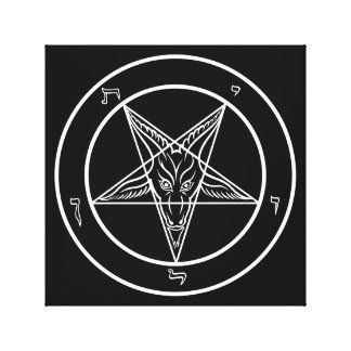 "Baphomet Art 12""x12""on Stretched Canvas"