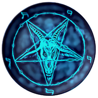 Baphomet Astral Ritual Plate Porcelain Plates