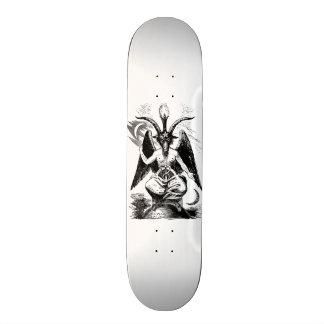 Baphomet - black print skateboard deck