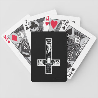 Baphomet Crucifix Bicycle Playing Cards