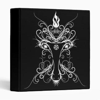 Baphomet Damask Occult Goth Book Of Shadows 3 Ring Binder