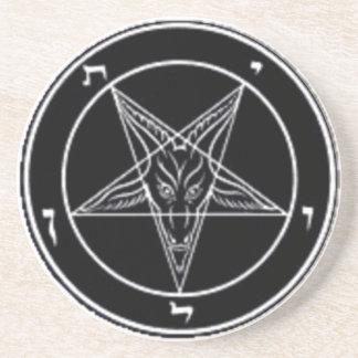 Baphomet Drink Coaster or Ritual Alter Piece