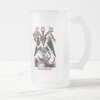 Baphomet Frosted Glass Beer Mug