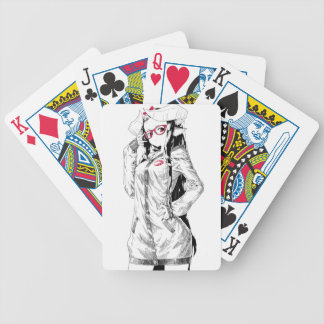 Baphomet Girl Bicycle Playing Cards