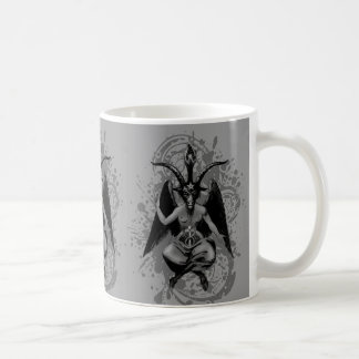 Baphomet: horned god of witches and witchcraft, classic white coffee mug