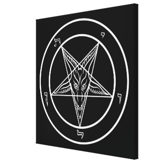 "Baphomet HUGE 40""x40"" Art on Stretched Canvass Canvas Print"