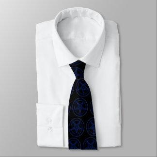 Baphomet In Blue Neck Tie
