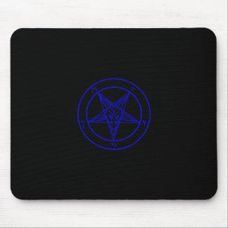 Baphomet negro/azul marino Mousepad