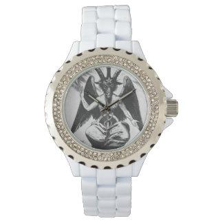 Baphomet negro/blanco (viejo estilo) relojes