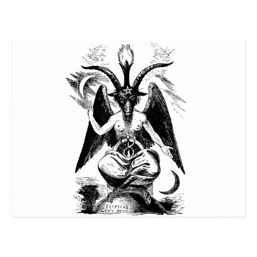 Baphomet (negro) postales