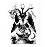 Baphomet (negro) tarjetas postales