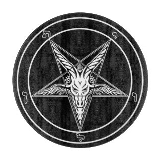 Baphomet Old Glass Cutting Board 12""