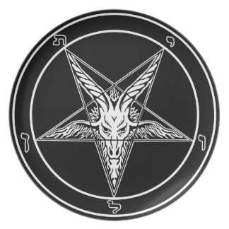 "Baphomet Old Style 10"" plate"
