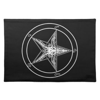 Baphomet Old Style 14x20 on Woven Cotton Cloth Placemat