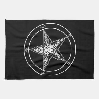 Baphomet Old Style 16x24 on Cotton Twill Hand Towel