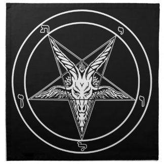 Baphomet Old Style 20x20 on Cloth (Four Banners)