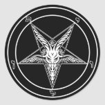 Baphomet Old Style decals - Big 3-inch - Set of 6 Stickers
