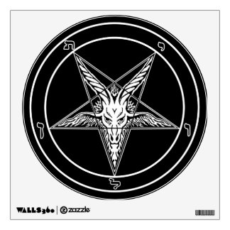 Baphomet Old Style Wall Decal 12-inch