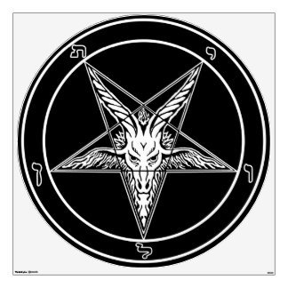 """Baphomet Old Style Wall Decal-48"""""""
