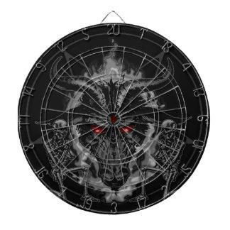 Baphomet Pentagram Black Metal Dartboard With Darts