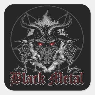 Baphomet Pentagram Black Metal Square Sticker