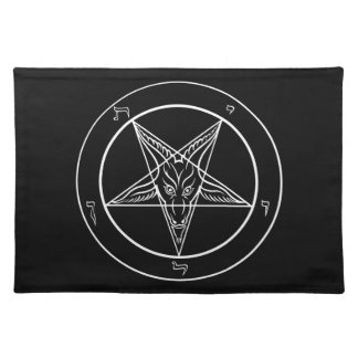 "Baphomet Placemat 20""x14"" Cloth Placemat"