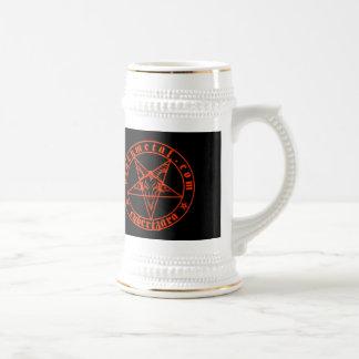 Baphomet Red Beer Stein Coffee Mug