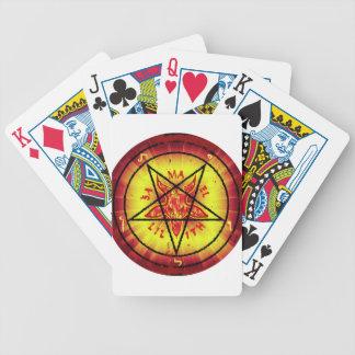 Baphomet rojo cartas de juego