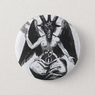 Baphomet Round Button
