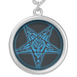 Baphomet Sigil Blue Necklace