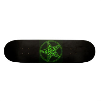 Baphomet Sigil Green Skateboard