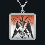 """Baphomet Sterling Silver Necklace<br><div class=""""desc"""">Baphomet</div>"""