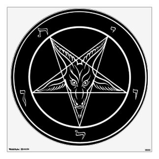 "Baphomet Wall Decal 30"" Movable"