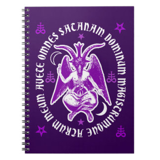 "Baphomet with Latin ""Hail Satan"" Inscription Notebook"