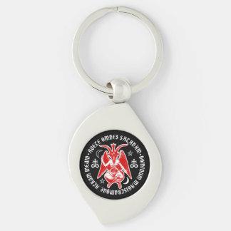 Baphomet with Satanic Crosses & Pentagrams Keychain