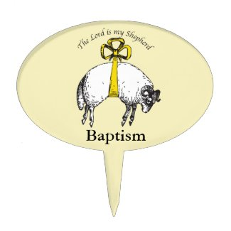 Baptiam The LORD is my shepherd Psalm 23 Cake Topper