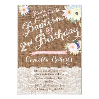 Baptism and Birthday invitations, 2nd Birthday Card