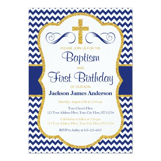 Baptism and first birthday invitation for boys zazzle baptism and first birthday invitation for boys filmwisefo