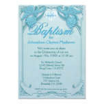 Baptism | Angel Monogram 5x7 Paper Invitation Card
