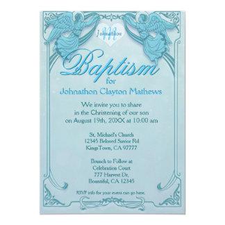 Baptism | Angel Monogram Card