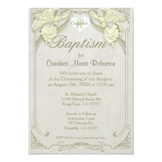 Baptism | Angel Monogram Card