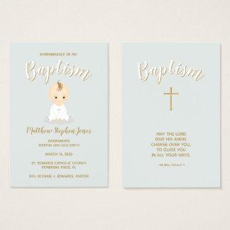 Baptism Baby Boy Business Card